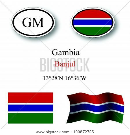 Gambia Icons Set