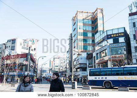 People In Urban At Seoul ,south Korea