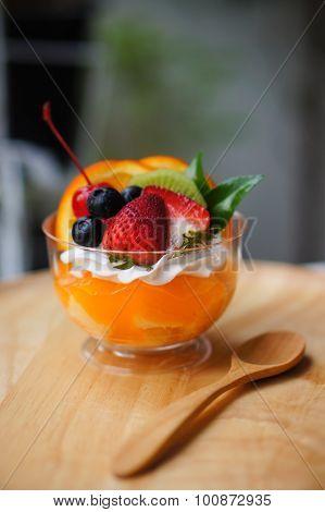 The fruity panna cotta