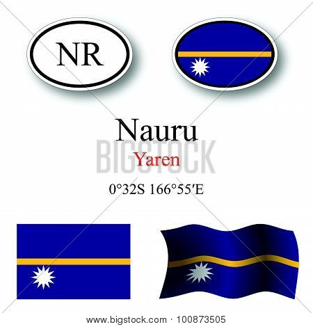 Nauru Icons Set