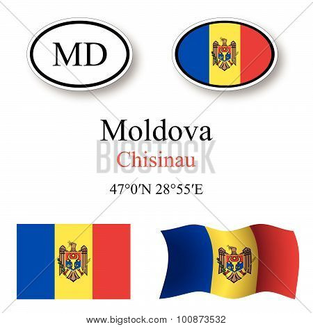 Moldova Icons Set