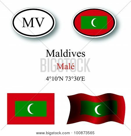 Maldives Icons Set