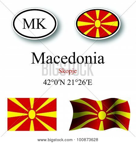 Macedonia Icons Set