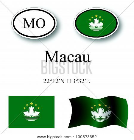 Macau Icons Set