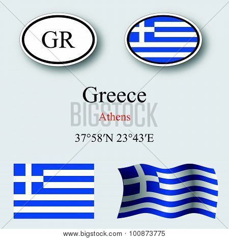 Greece Icons Set
