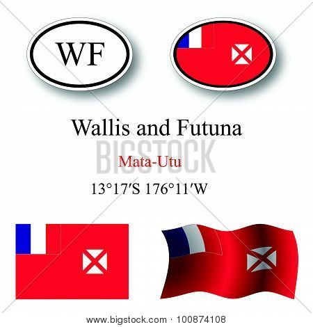 Wallis And Futuna Icons Set