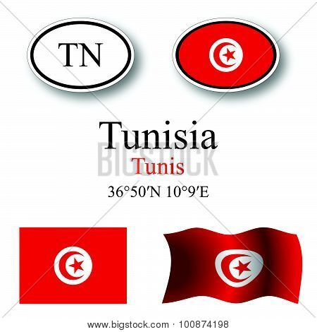 Tunisia Icons Set