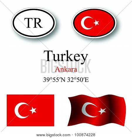 Turkey Icons Set