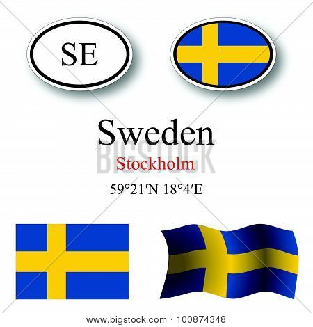 Sweden Icons Set