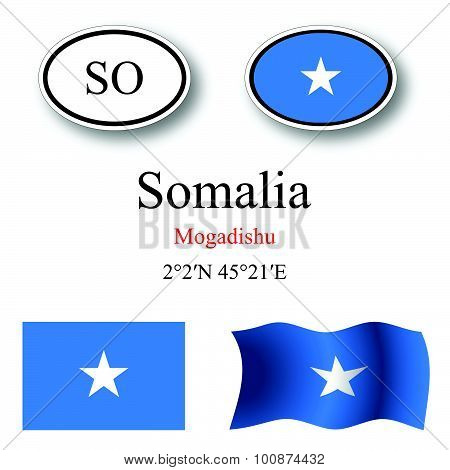 Somalia Icons Set