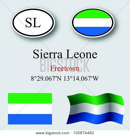 Sierra Leone Icons Set