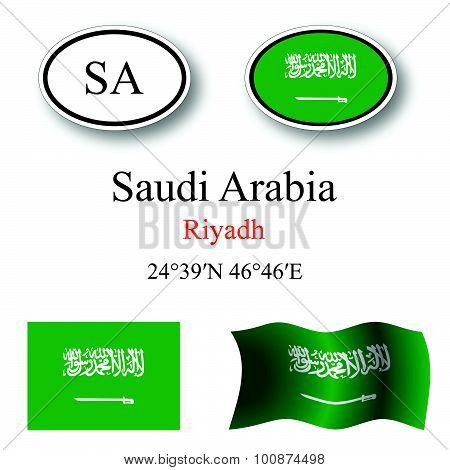 Saudi Arabia Icons Set
