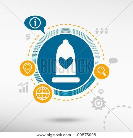 Condom  Icon And Creative Design Elements