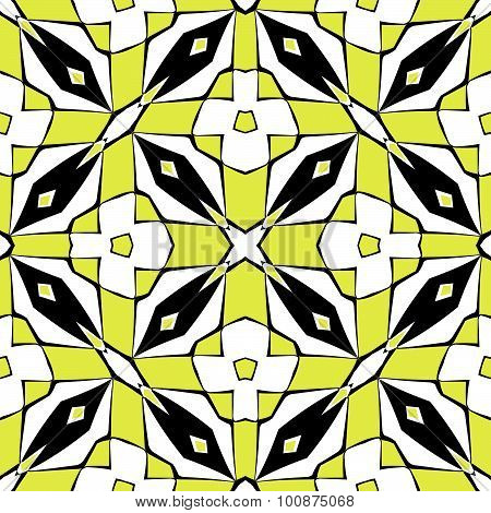 Diamonds Squares Pattern