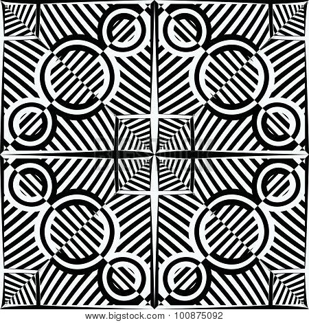 Black And White Stripy Pattern