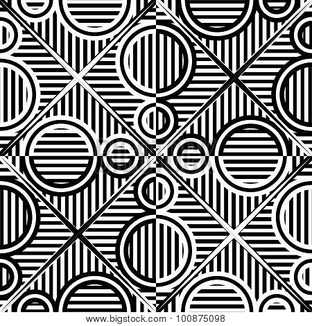 Monochromatic Circles Stripy Pattern