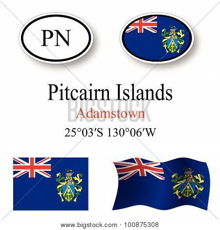Pitcairn Islands Icons Set