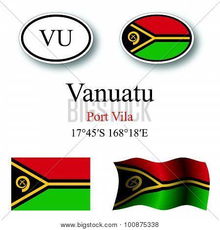 Vanuatu Icons Set
