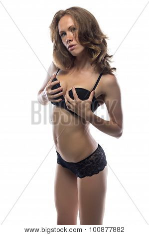 Image of exciting woman in underwear