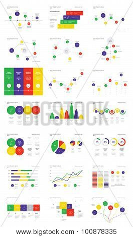 Infographic Elements Collection - Business Vector Illustration in flat design style for presentation