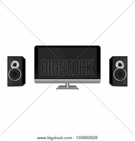 Display and speakers