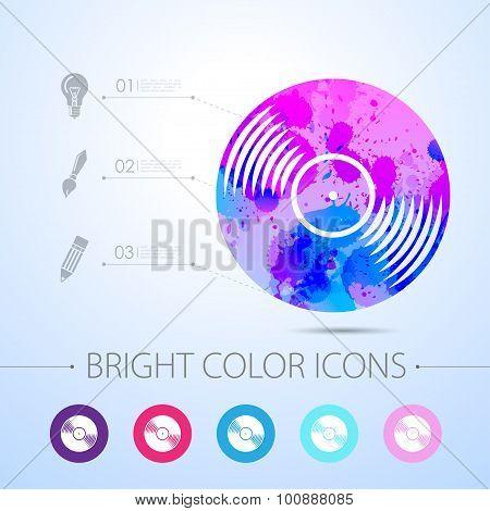 Vector watercolor icon