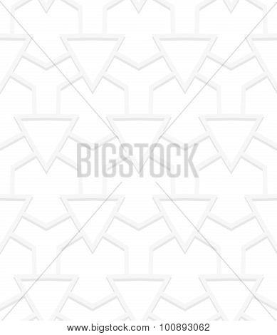 White art deco pattern