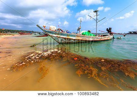 Wooden Boat, Sea.