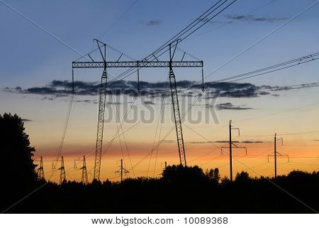 The High Voltage Transmission Towers