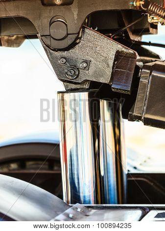 New Hydraulic Pistons Closeup