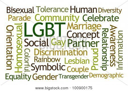 LGBT Word Cloud on White Background