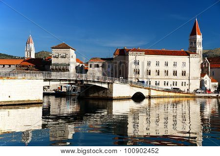 Old Town Of Trogir In Dalmatia, Croatia On Adriatic Coast