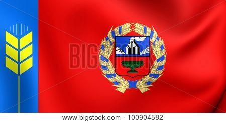Flag Of Altai Krai, Russia.