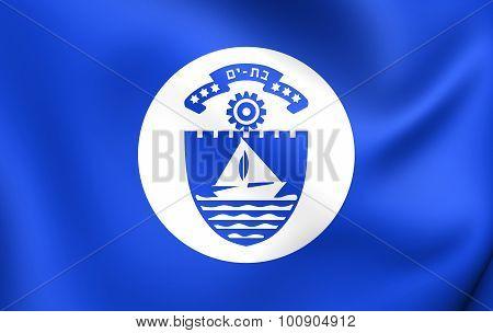 Flag Of Bat Yam City, Israel.