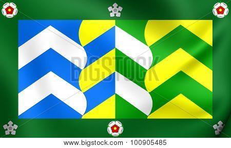 Flag Of Cumbria County, England.