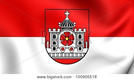 Flag Of Detmold City (north Rhine-westphalia), Germany.