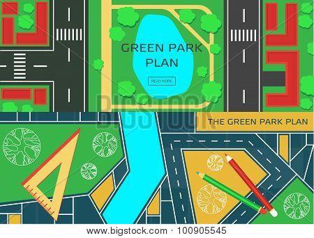 Online city garden creative design