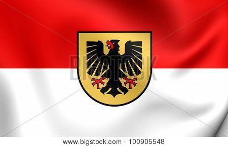 Flag Of Dortmund City (north Rhine-westphalia), Germany.