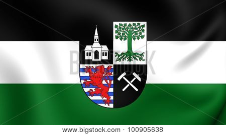 Flag Of Gelsenkirchen City (north Rhine-westphalia), Germany.