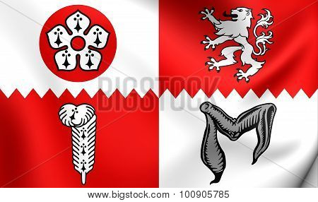Flag Of Leicestershire County, England.