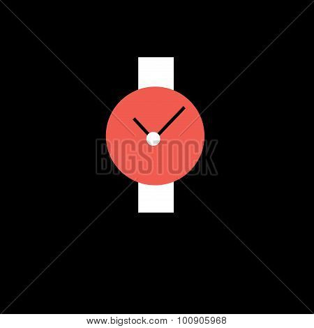 Wristwatch Red With White Strap
