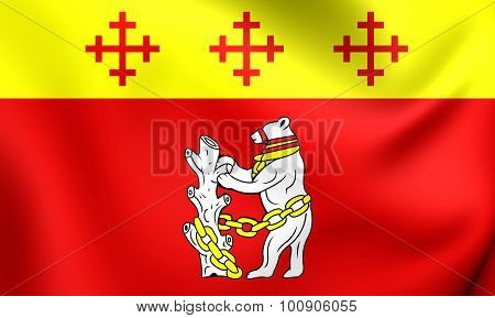 Flag Of Warwickshire County, England.