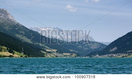 Lake In The Alps By Summer