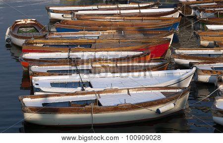 Wooden Boats In Naples Harbour