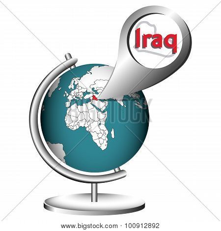 Illustration Vector Graphic Globe Iraq