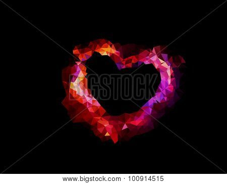 geometric heart, editable