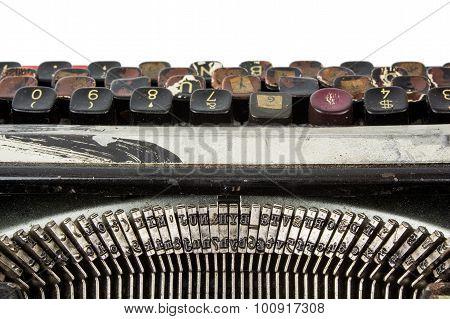 Rusty Dirty Typewriter