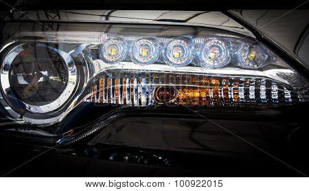 Close Up Car Headlights