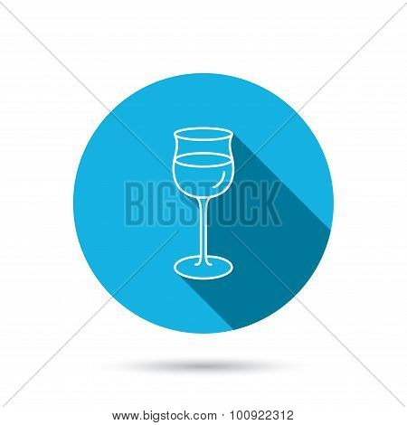 Wineglass icon. Goblet sign.