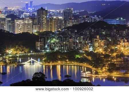 Beautiful Arch Bridge At Taipei